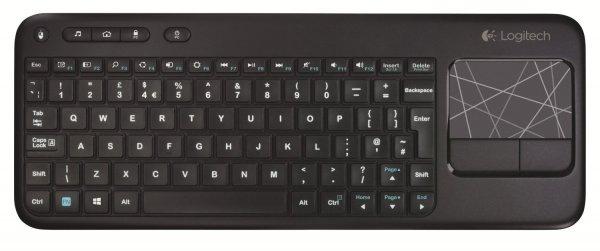 [Voelkner] Logitech Funk-Tastatur K400 Wireless Touch Keyboard Schwarz Integriertes Touchpad, Maustasten