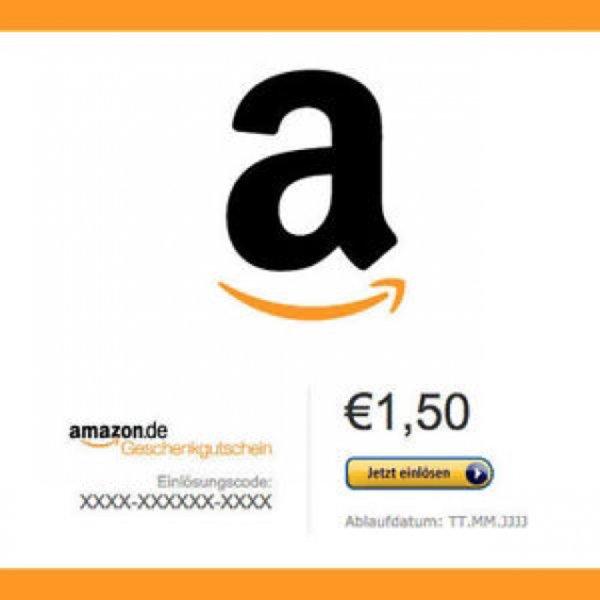 1,50€ Amazon Gutscheincode für 1€
