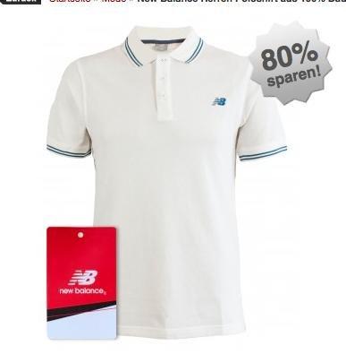 [BilligArena] Weißes Herren Poloshirt von New Balance für 7,99€ (+4,90€ VSK) statt 16€, viele Größen