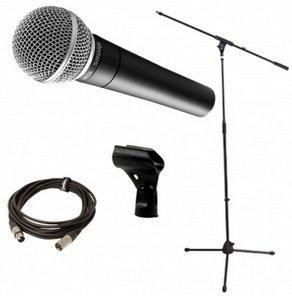 Mikrofon SHURE SM58 + MIC BOOM STAND + XLR CABLE