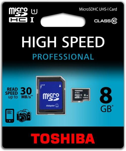[Amazon] Toshiba Micro SDHC 8GB (bis zu 40MB/s lesen) Speicherkarte für 4,99€ [Idealo:7,60€]