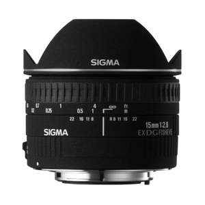 Sigma 15 mm F2,8 EX DG Diagonal Fisheye-Objektiv (Canon) für 487,68 € (Nikon für 476,17 €) @Amazon.it
