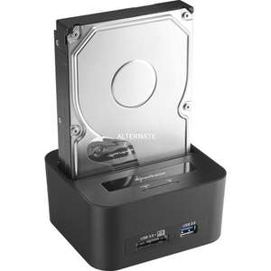 Sharkoon QuickPort XT HC - HDD Dockingstation (für SATA Festplatte, Kartenleser, USB Hub, USB 3.0)@ZackZack.de