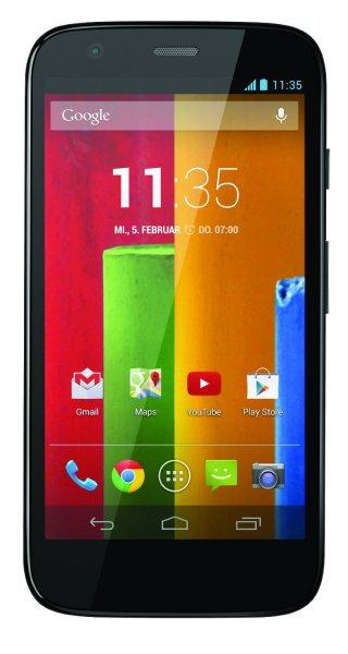 Motorola Moto G 8GB gebraucht 11,4 cm (4,5 Zoll) HD-Display, 5 Megapixel Kamera, 1,2 GHz Quad-Core-Prozessor @ebay (clevertronic)