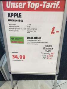 iPhone 6 mit md Real Allnet (Media Markt Stuttgart-Milaneo)