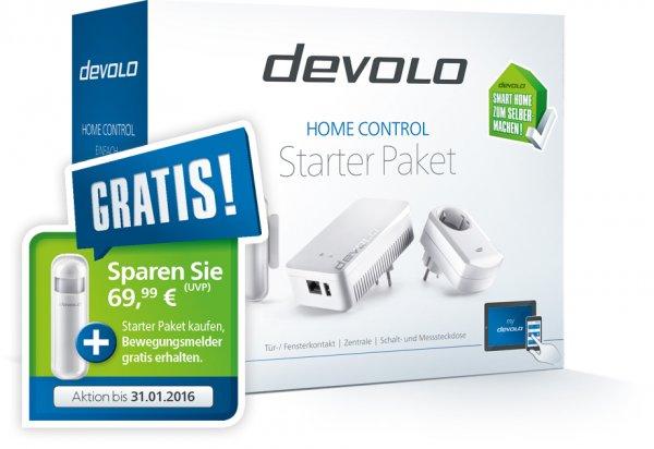devolo Home Control Starter Kit - Bewegungsmelder im Wert von 70€ gratis von devolo - effektiv dann 119€ Smart Home Lösung