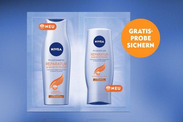 Probe NIVEA Reparatur & gezielte Pflege Shampoo und Spülung Gratis