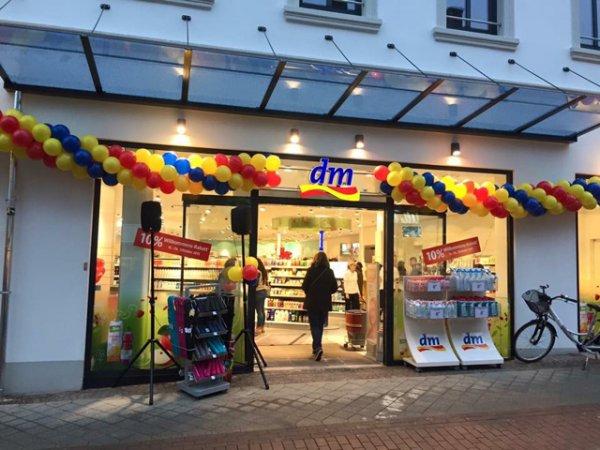 DM Neueröffnung in Rheine, heute 10% auf alles