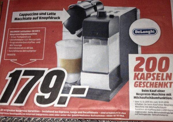 [Lokal Mediamarkt Köln-Kalk] Nespresso Latissima+ EN 520 S