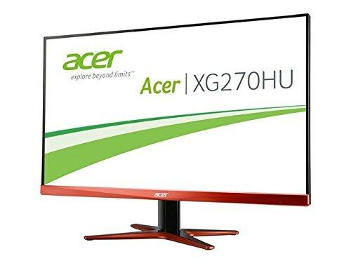 [ZackZack] Acer Predator XG270HUomidpx 69 cm (27 Zoll) LED Monitor (DVI, HDMI 2.0, Displayport, WQHD 2.560 x 1.440, 1ms Reaktionszeit, 144Hz, AMD FreeSync, Lautsprecher, EEK B) schwarz/rot