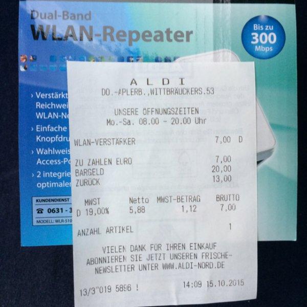 WLAN Repeater Aldi Dortmund Aplerbeck