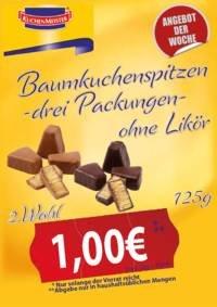 Baumkuchenspitzen - 3x 125g ohne Likör - 2. Wahl! Aber trozdem lecker!Logal (Lange Wende Soest)