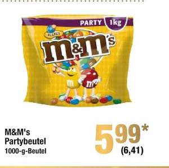 [Metro-Bundesweit] M&M´s Peanut- 1KG Party Beutel für nur 6,41€ ab 29.10