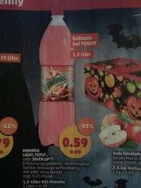 Mirinda Light Limited Edition / Pepsi / Seven Up 1,5 Liter für 0,59 € @Penny