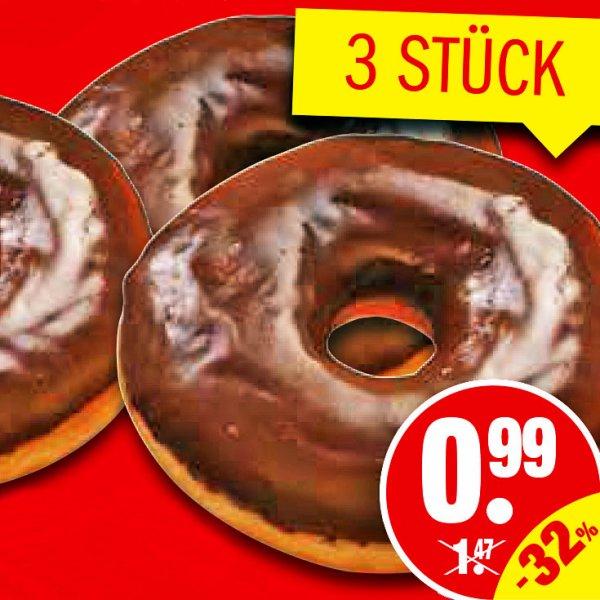 3x Schoko Donuts für zusammen 99 Cent! [ NP Discount ]