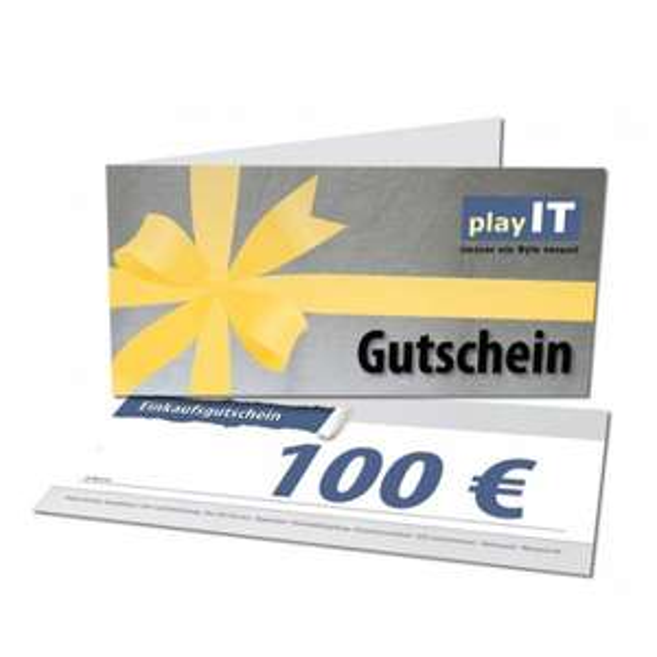 playIT.de - 100€ Einkaufsgutschein für 90€ (im Onlineshop + Filiale einlösbar)