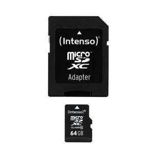 (Amazon.de-Prime) Intenso Micro SDXC 64GB Class 10 mit Adapter für 19€