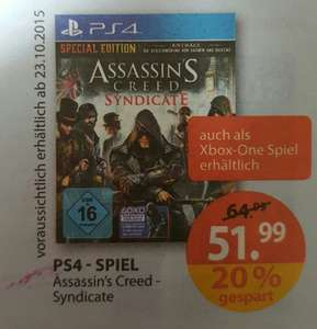 [Müller] Assassins Creed Syndicate - Special Edition PS4/X1 -51,99 €