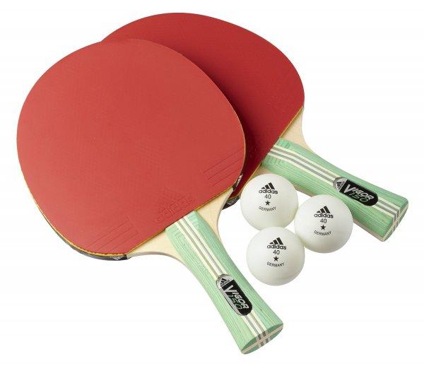 adidas Tischtennis - Schläger Set Vigor 150    /    2 Schläger + 3 Bälle @ Amazon Prime