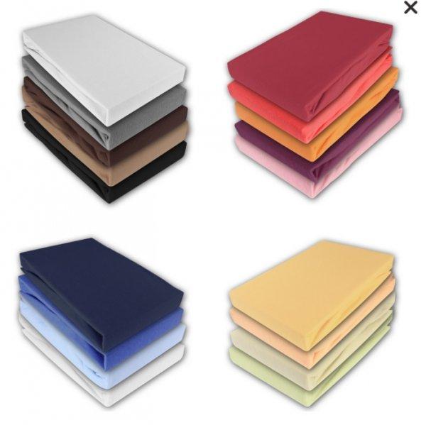 EBAY Jersey Spannbettlaken Spannbetttücher 100% Baumwolle 5 Größen (auch 2x2m) 18 Farben