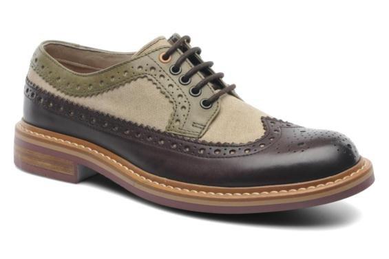 Clarks Herren Modern-Elegant Darby Limit Leder Halbschuhe In Grün