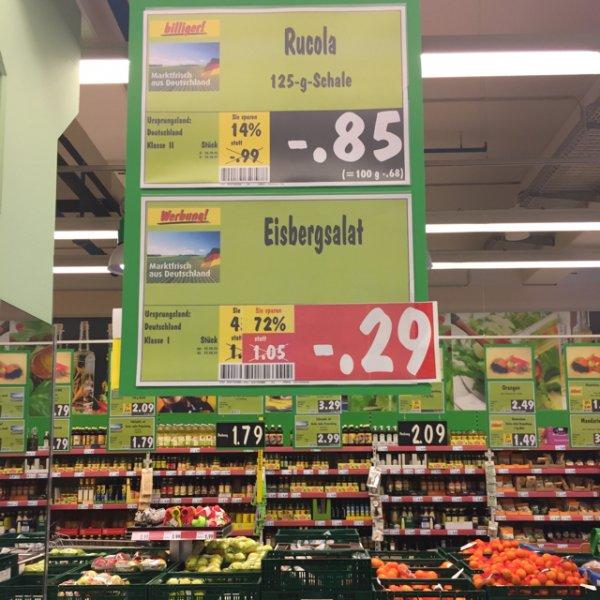 [lokal Zwickau] Kaufland pölbitz Eisbergsalat