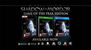 [PS4] PSN CA: Middle-earth - Shadow of Mordor/Mittelerde: Mordors Schatten - Game of the Year Edition und weitere Angebote