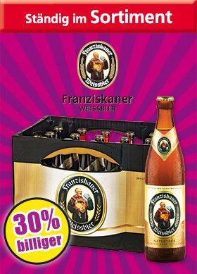 Norma - Franziskaner Hefe Weissbier  10L 10,80€ - 19.10.bis 25.10.2015