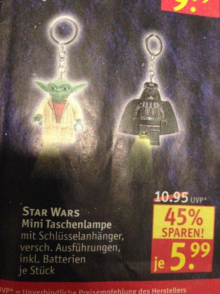 [Rossmann] Große Spielwarenaktion - Star Wars Mini Taschenlampe versch. Ausführungen für 5,99 Euro