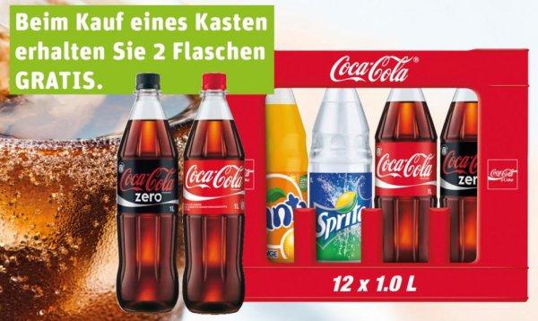 1 Kasten Coca-Cola + 2 Flaschen gratis (14 Liter)  für 7,99 € @Rewe