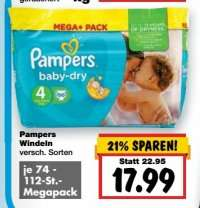[KAUFLAND] Pampers Mega+ Pack für 13,99€ (Angebot+Coupon) zum Super-Weekend