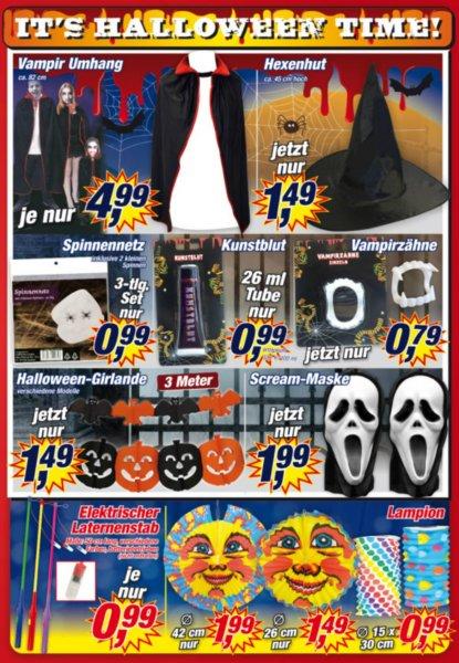 [Posten-Boerse] Halloween Accessoires z.B. Scream-Maske für 1,99 usw. ! (ab Montag)