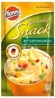 """[Amazon]Pfanni Kartoffelsnack """"Röstzwiebeln, Käse und Croutons"""" + """"Gartengemüse"""", 5er-Pack (5 x 180 ml), Pfanni Kartoffelsnack """"Fleischbällchen & Röstzwiebeln"""", 4er-Pack (4 x 53 g)"""