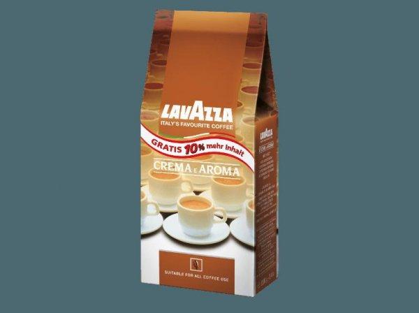 [Saturn] LAVAZZA Crema e Aroma, Kaffeebohnen 1100Gramm für 10,-€ oder 3300 Gramm für 25,-€ mit Newslettergutschein.Versandkostenfrei