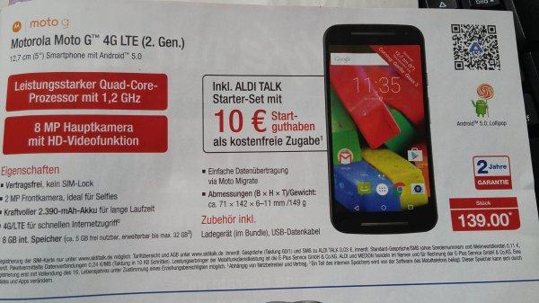 Motorola G2 4G (2. Generation) (Aldi Nord)