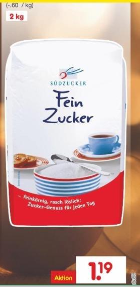 netto MD Zucker 2kg (Südzucker) ab 19.10