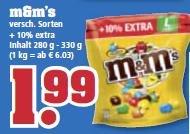 [trinkgut] M&M's verschiedene Sorten 280/330g-Packung nur 1,99 €