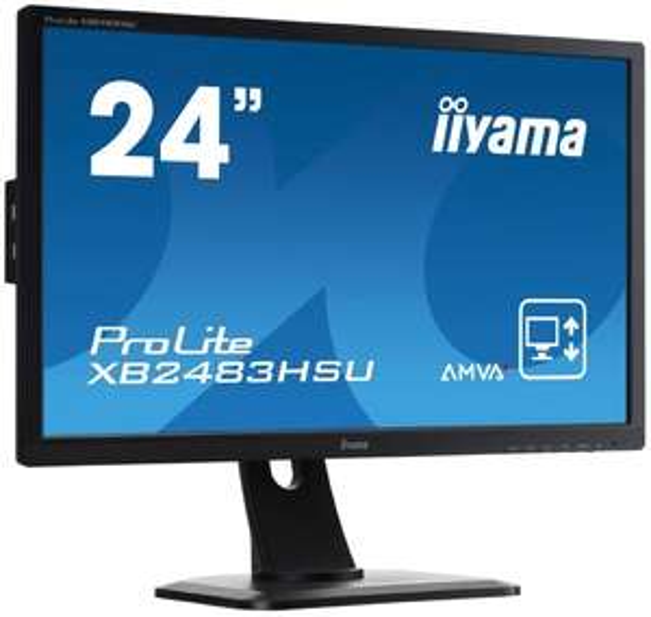 [Arlt RatzFatz Angebot] Iiyama XB2483HSU-B1 61 cm (24 Zoll) LCD-Monitor mit AMVA-Technologie (VGA, DVI-D, HDMI, USB, 4ms Reaktionszeit) schwarz nur bis 18.00 Uhr !