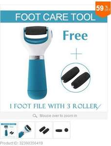 Foot Care Velvet Smooth Express Pedi + 2 Roller