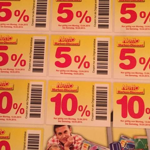 [LOKAL] Coupons mit 5%, 10% oder 20% Rabatt aufs gesamte Sortiment!!! @Netto (ohne Hund) -Blick in den Briefkasten kann lohnen - regionale Schnäppchen möglich 19.10.-24.10.