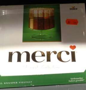 [Wagner Baden-Baden] Merci Schokolade 250g (versch. Sorten) für 1,49€ (Angebot)