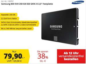 Samsung EVO 850 SSD 250GB - comtech quickdeal * ab 12 Uhr