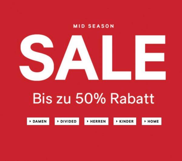 [H&M ONLINE] MID-SEASON SALE bis zu 50% Rabatt startet heute