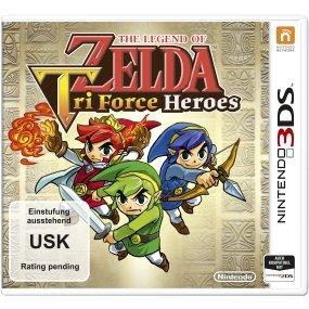 (Vorbestellung) The Legend of Zelda: Tri Force Heroes [Nintendo 3DS] mit 5 € Saturn Newsletter-Gutschein bei versandkostenfreier Lieferung in Filiale für 32,99 €