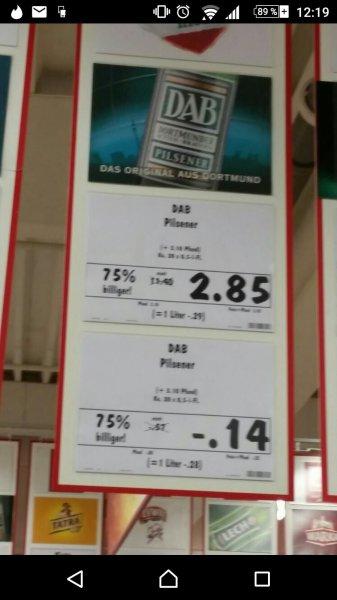 Kaufland (Witten) Dab Bier: Kasten 2,85