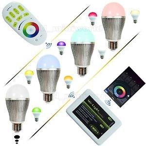 Mi Light Set aus 4x 9W E27, Wifi-Controller und Fernbedienung