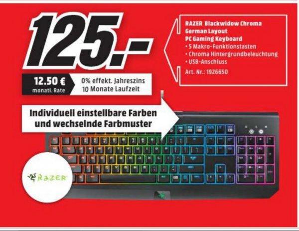 (lokal) Razer BlackWidow Chroma für 125€ @ Mediamarkt Herzogenrath