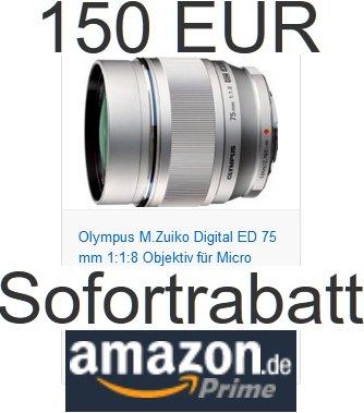 Olympus Sofortrabatt auf Objektive (€50 bis €150) bei Amazon.de