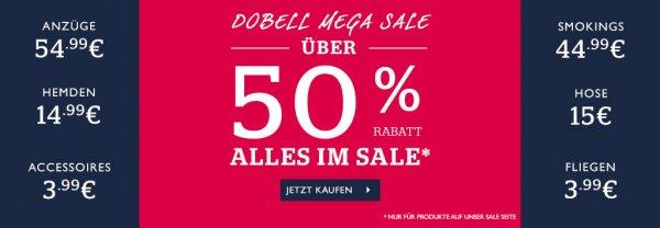 [dobell] Mega Sale mind. 50% Rabatt - Anzug ab 34,99 € - Fliege ab 5,99 €