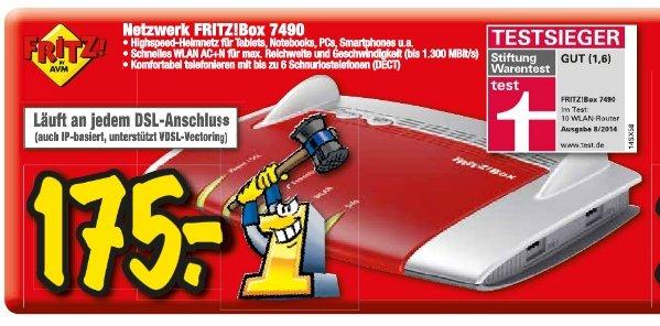 [Lokal-Technoland Esslingen] Fritzbox 7490 für 175€